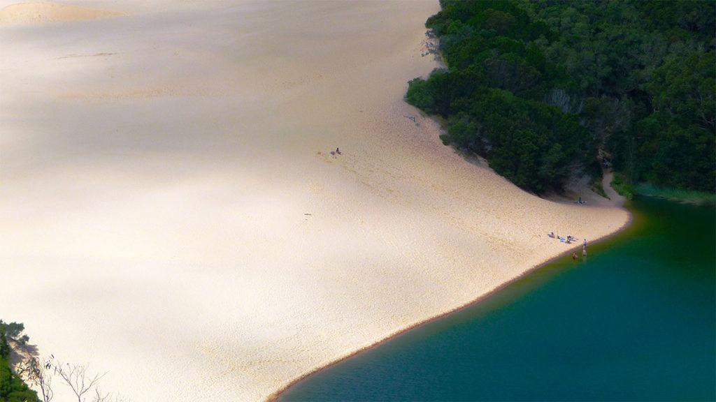 Lake Wabby - Air Fraser Island